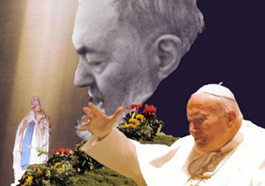 """""""Padre Pio e Giovanni Paolo II"""""""