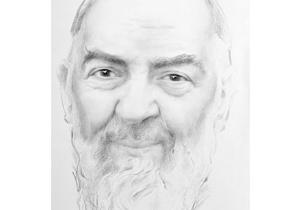 Antonio Ciccone - Padre Pio - Contentezza - carboncino