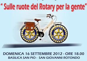 Sulle ruote del Rotary per la gente