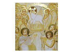 """""""a San Giovanni Rotondo nella chiesa di Padre Pio equipe dell'Arte spirituale del Centro """"Aletti"""""""